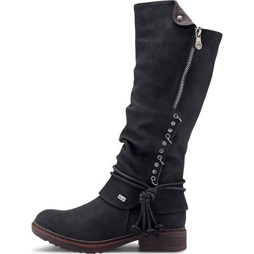 Rieker, Winter-Stiefel in schwarz, Stiefel für Damen Gr. 37