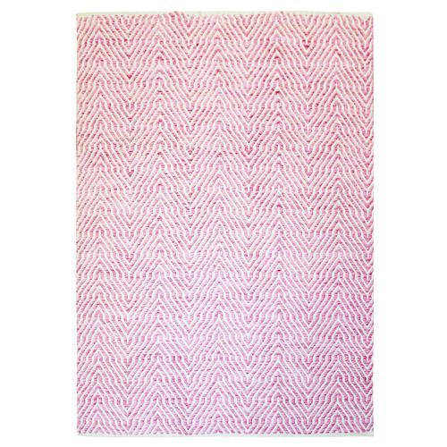 Wollteppich Carsten Kayoom Pink