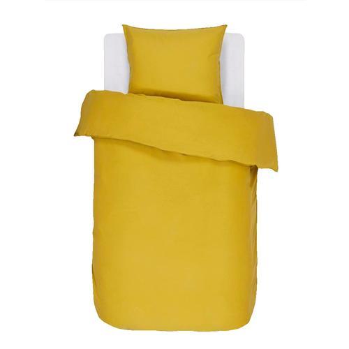 Satin Bettwäsche 'Minte' Essenza golden gelb