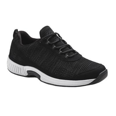 #1 Neuropathy Sneakers, Arch Support, Enhanced Comfort, Men's Sneakers | OrthoFeet Comfortable Footwear, Lava, 13 / Medium / Black