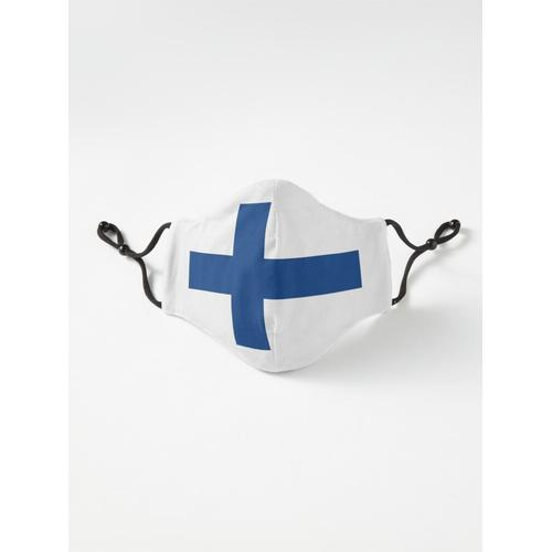 Finnische Flagge Finnischer Patriot Maske