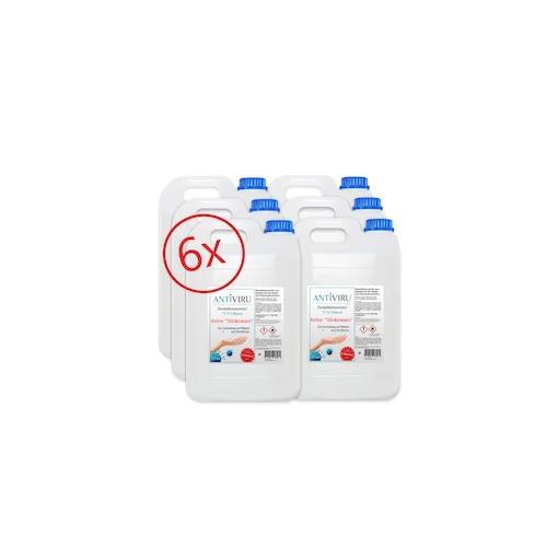 ANTiVIRU Desinfektion - Virus tötend - Handdesinfektion & Flächendesinfektion - keine Stinkeware - 6x5 Liter Kanister Desinfektionsmittel – viruzid