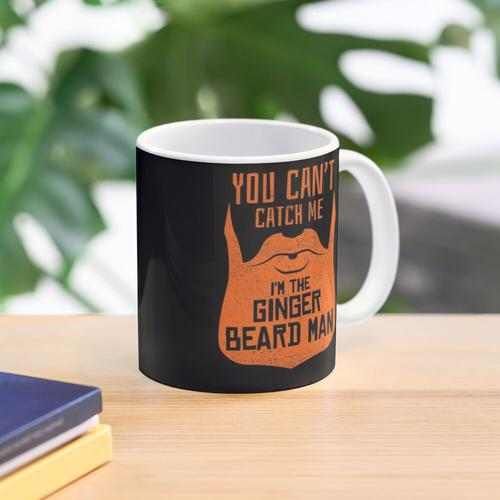 You Can't Catch Me I'm The Gingerbread Man - Funny Ginger Beard Saying Mug