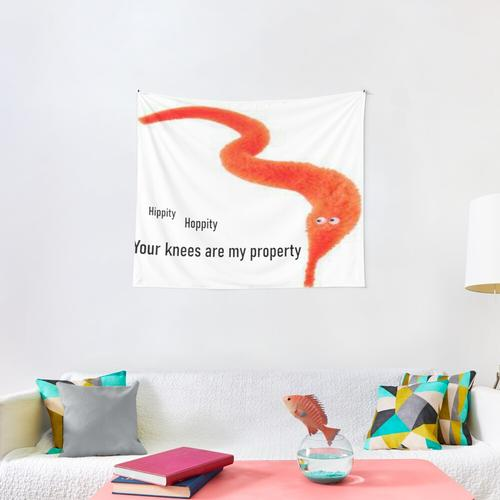 Worm Wants Knees Wall Tapestry