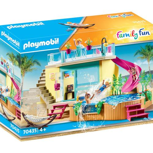 PLAYMOBIL® Family Fun 70435 Bungalow mit Pool, bunt