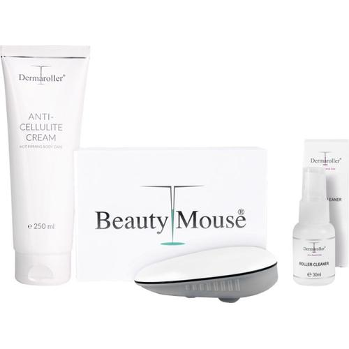 Dermaroller Beauty Mouse Set Dermaroller Beauty Mouse Anti Cellulite Creme 250 ml Roller Cleaner 30 ml Körperpflegeset