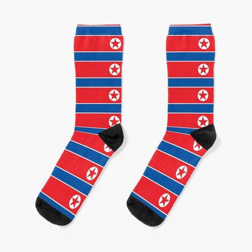 Nordkoreanische Flagge, DVRK Socken