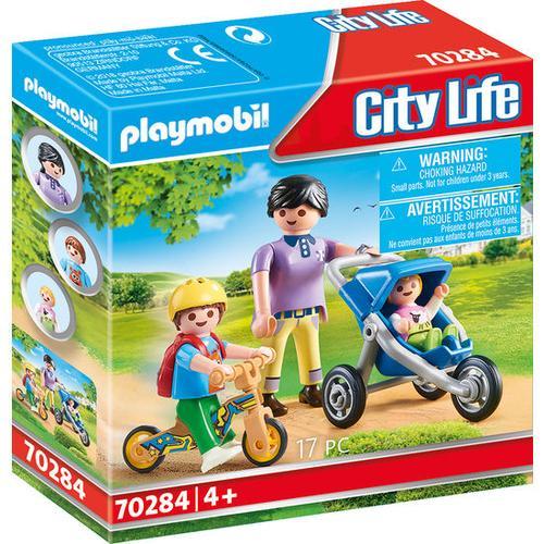 PLAYMOBIL® City Life 70284 Mama mit Kindern, bunt