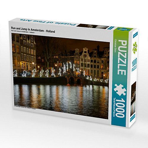 Run and Jump in Amsterdam - Holland Foto-Puzzle Bild von Christian Dorn Puzzle