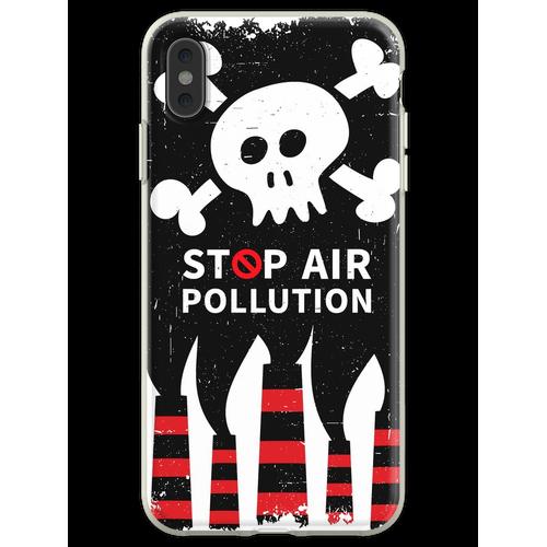 Luftverschmutzung stoppen Flexible Hülle für iPhone XS Max