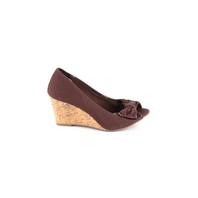 American Eagle Shoes Wedges: Brown Solid Shoes - Size 9 1/2