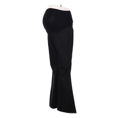 A Pea in the Pod Khaki Pant: Black Solid Bottoms - Size X-Small Maternity