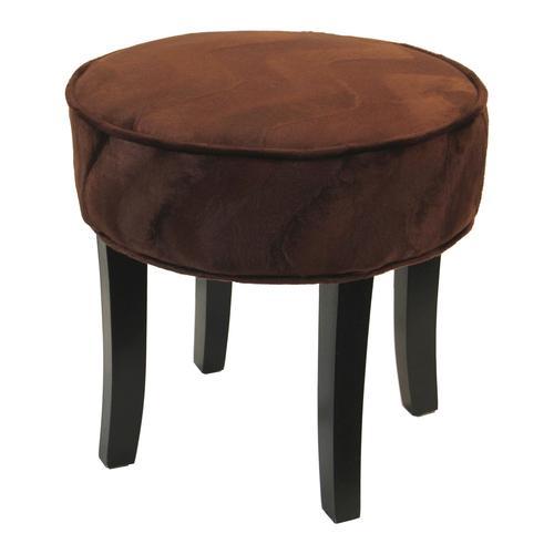 Sitzhocker im Tierfell-Look braun