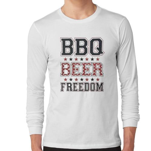 Grill Bier Freiheit, Grill, Freiheit, Grill Bier Freiheit Kerl, Grill Bier Frei Langärmeliges Shirt