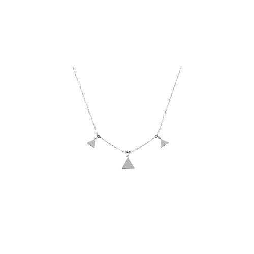 Silberkette Dreieck Kette Silber Dkeniz silber