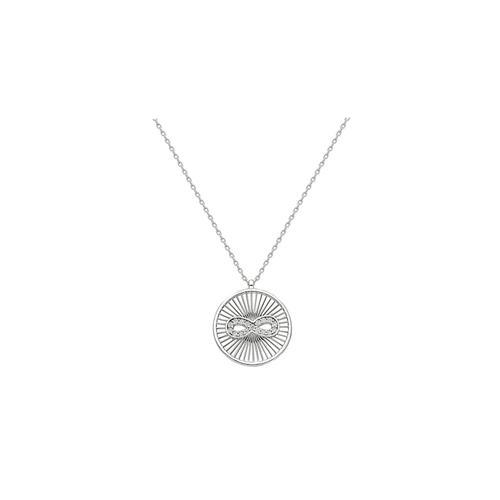 Silberkette Coin Infinity Kette Silber Dkeniz silber