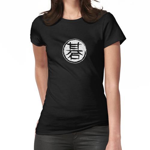 Go Strategie Brettspiel Kanji Charakter Frauen T-Shirt
