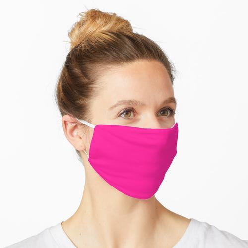 Rosa Kunststoff Maske