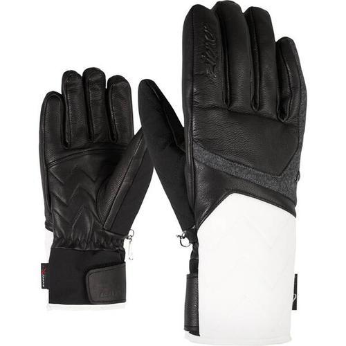 ZIENER Damen Handschuhe KRISTALL AS(R) AW, Größe 8,5 in white