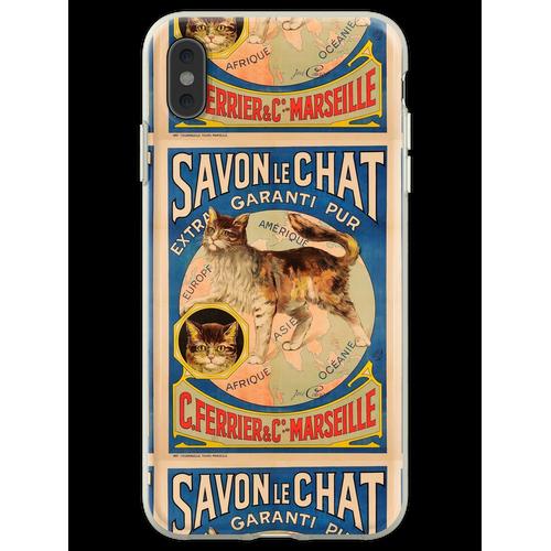 Savon Le Chat Die französische Seife der Marke Cat Flexible Hülle für iPhone XS Max