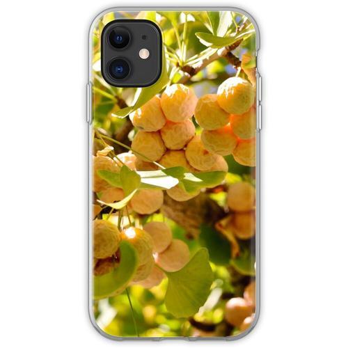 Ginkgobaum mit Obst Flexible Hülle für iPhone 11