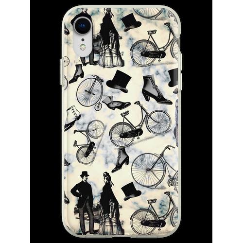 Viktorianische Fahrräder und Mode Flexible Hülle für iPhone XR