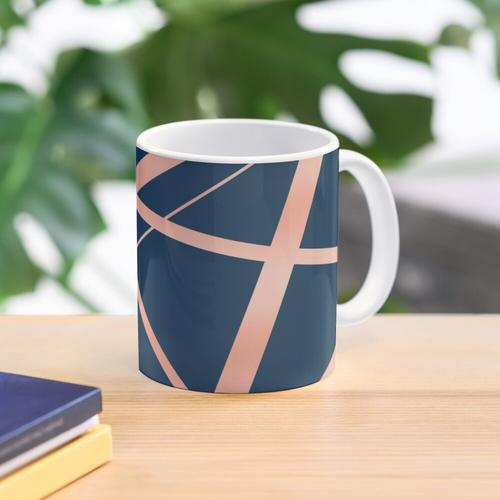 Navy and Copper Luxe Mug