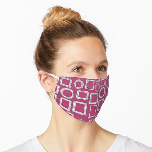 Bilderrahmen fuchsia rosa Maske