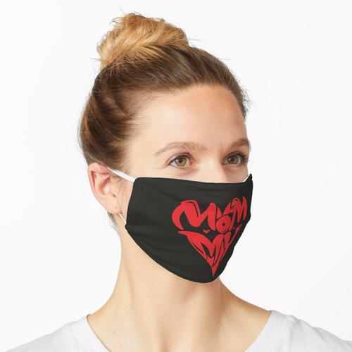Mama Herzform Maske