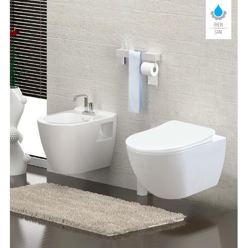 Spülrandloses Wand Hänge WC Spülrandlos Toilette Bidet Taharet Rimless Taharet WC