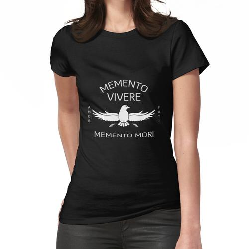 memento vivere - memento mori - Amor Fati Frauen T-Shirt