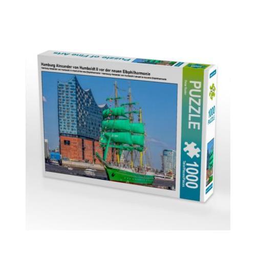 Hamburg Alexander von Humboldt II vor der neuen Elbphilharmonie Foto-Puzzle Bild von Peter Roder Puzzle