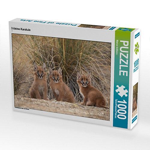 3 kleine Karakale Foto-Puzzle Bild von MaVo Tier- und Naturfotografie Puzzle