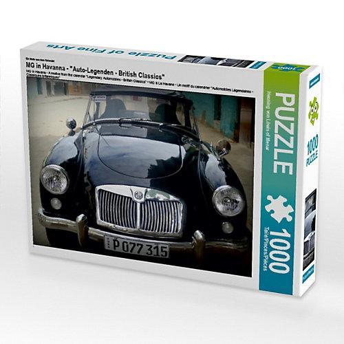 """""""""""""""MG in Havanna - Ein Motiv aus dem Kalender """"""""Auto-Legenden - British Classics"""""""" Foto-Puzzle Bild von Henning von Loewis of Menar Puzzle"""""""""""""""