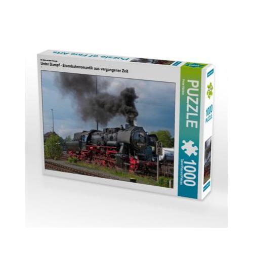 Unter Dampf - Eisenbahnromantik aus vergangener Zeit Foto-Puzzle Bild von Peter Härlein Puzzle