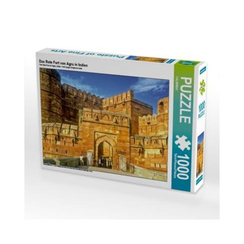 Das Rote Fort von Agra in Indien Foto-Puzzle Bild von CALVENDO Verlag Puzzle