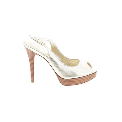 Cole Haan Nike Heels: Gold Solid Shoes - Size 10