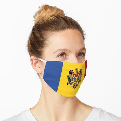 Moldawien Flagge Maske