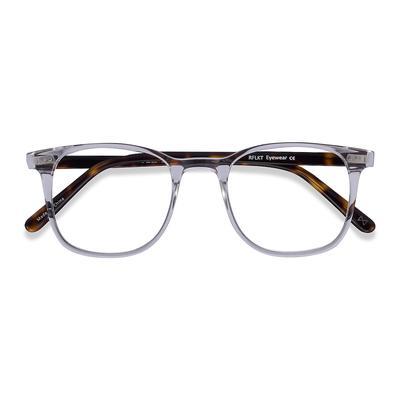 Unisex Square Translucent Acetate Prescription eyeglasses - EyeBuydirect's Sequence