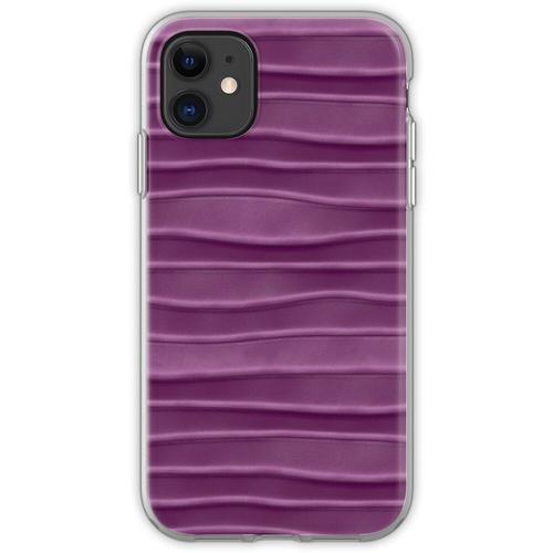 Lila, Seide, Satin, Stoff, Textur Flexible Hülle für iPhone 11