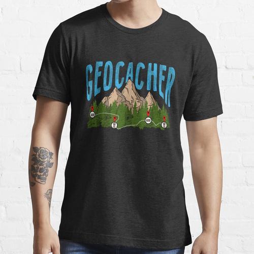 Geocache Berg Geocacher Geocaching GPS Geo Cachen Essential T-Shirt