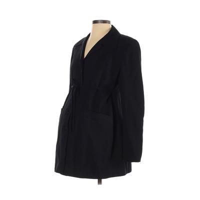 Mimi Maternity Blazer Jacket: Black Solid Jackets & Outerwear - Size P Maternity