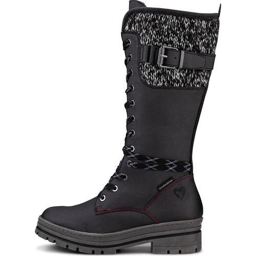 MARCO TOZZI Earth Edition, Sportliche Stiefel in schwarz, Stiefel für Damen Gr. 37