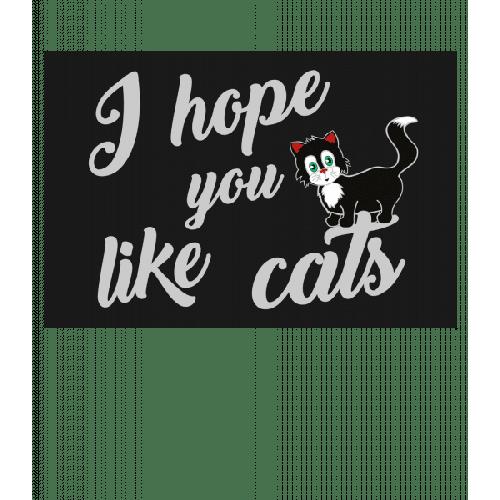 Ich Hoffe Du Magst Katzen - Fußmatte