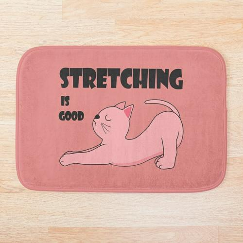 Stretching ist gut Badematte