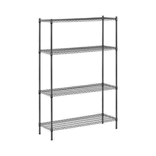 MSW Metallregal - 120 x 45 x 180 cm - 1.000 kg - grau MSW-1800P03