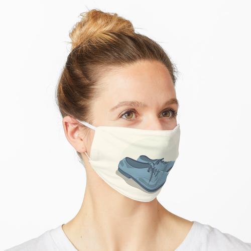 Blaue Wildlederschuhe Maske