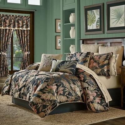 Martinique Comforter Set Black, King, Black
