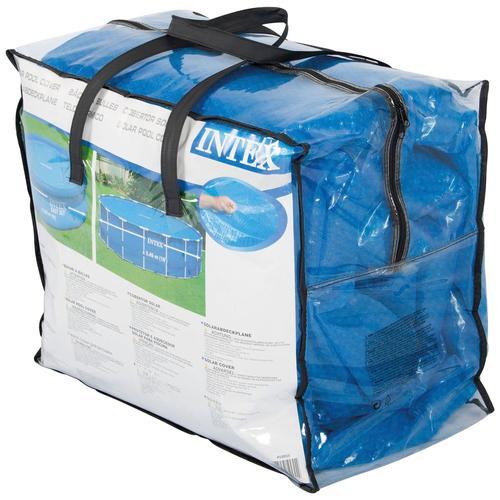 Intex Pool-Abdeckplane, Ø: 457 cm blau Poolzubehör -reinigung Pools Planschbecken Garten Balkon Pool-Abdeckplane