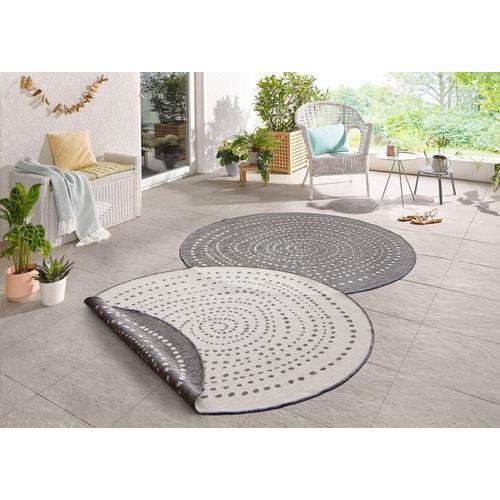 Teppich »Bali«, bougari, rund, Höhe 5 mm, In- und Outdoor geeignet, Wendeteppich, Wohnzimmer